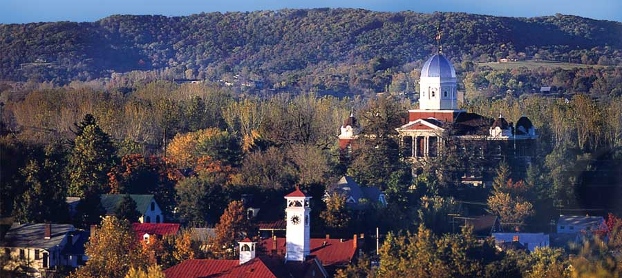 Fall view of Hermann Missouri